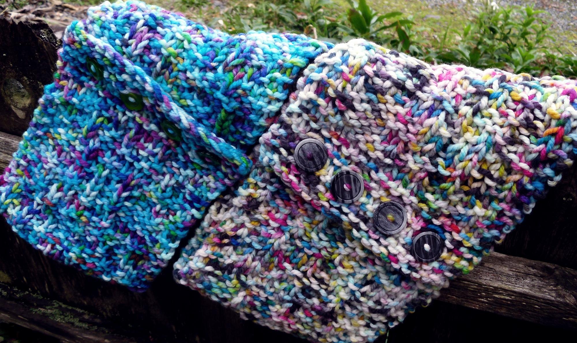 CMYK Colour Work Cowl Knit Pattern