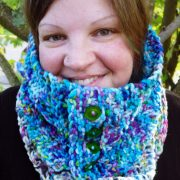 CMYK Colour Work Cowl by Emjay Bailey designed for JOMA Yarn's Chubby-Rino (FREE).